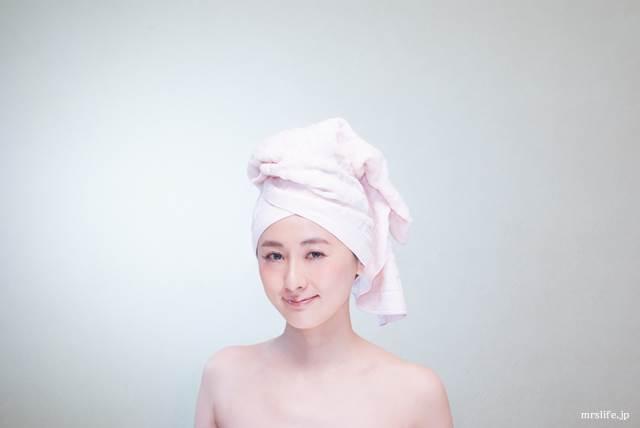 お風呂上りの女性