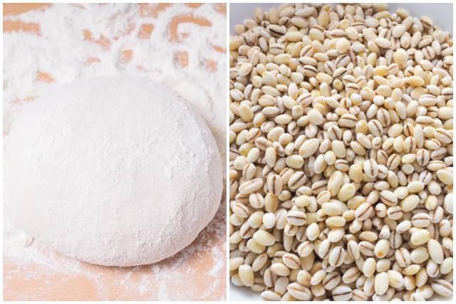 小麦と押し麦