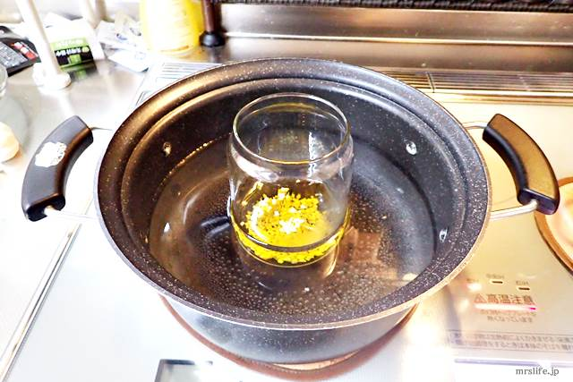 鍋に入れたニンニク油