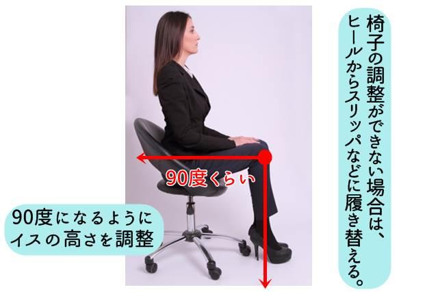 座っている女性