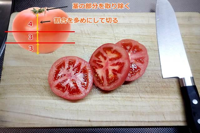 トマトを切る際のポイント