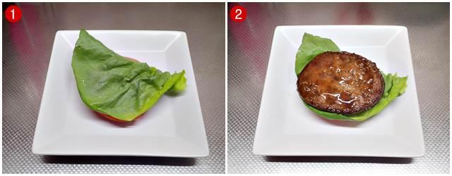 サラダ菜→丸大 チキンハンバーグ