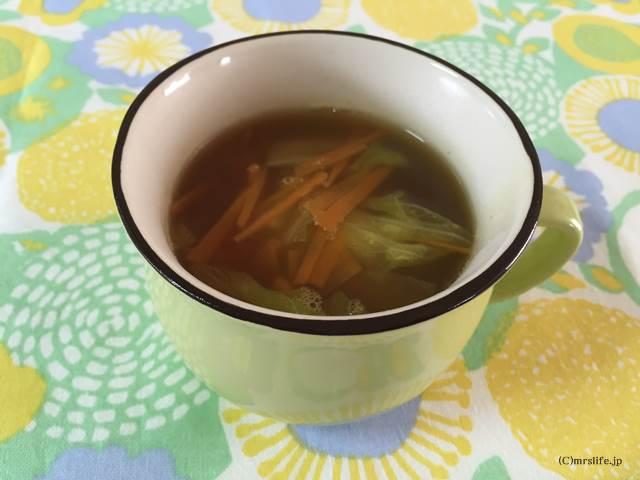 シャキシャキレタスの和風カレースープ