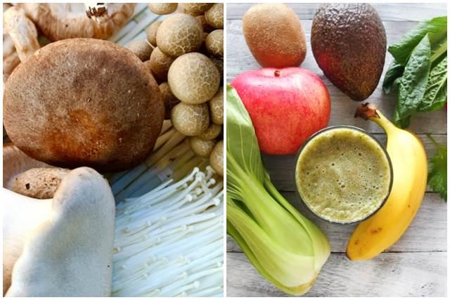 きのこ類と果物