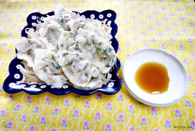 魚肉ソーセージと納豆の蒸し餃子