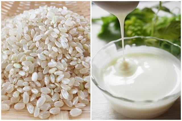 玄米とヨーグルト