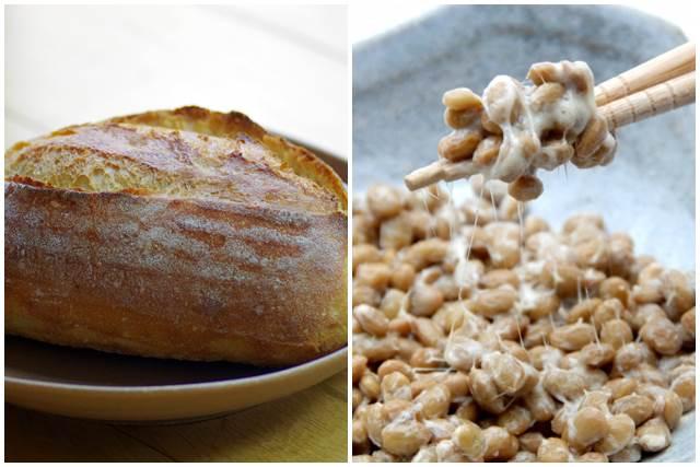 パンと納豆