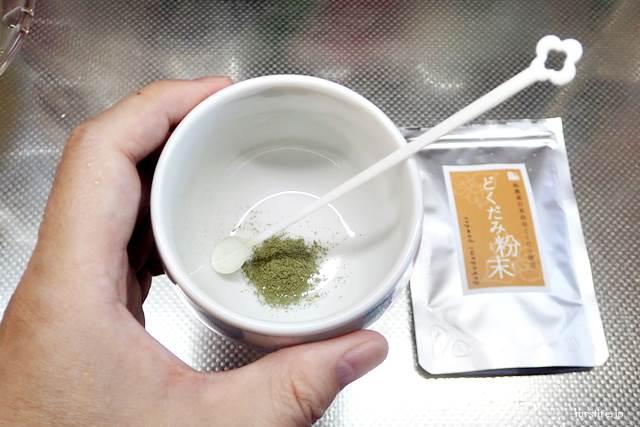 粉末タイプのどくだみ茶