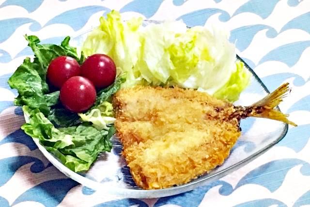 アジフライと野菜