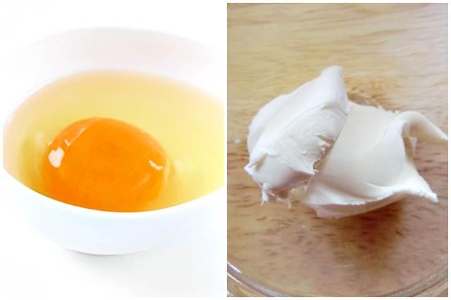 卵とクリームチーズ
