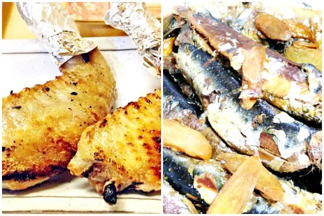 手羽先と煮魚