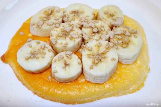 バナナ&シナモンのトッピング