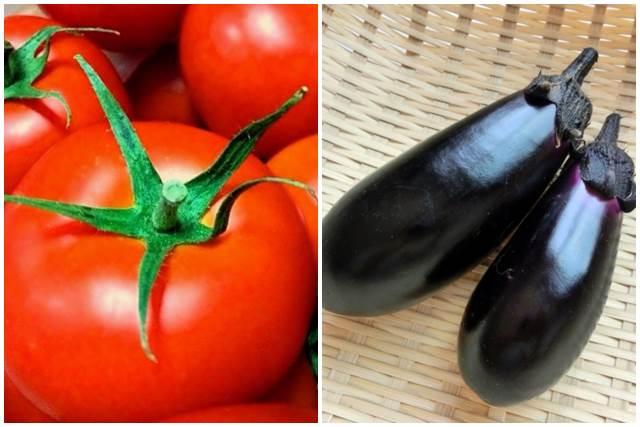 トマトと茄子