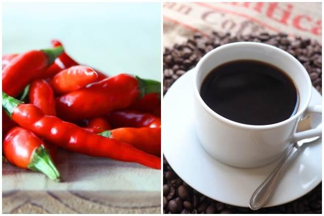 唐辛子とコーヒー