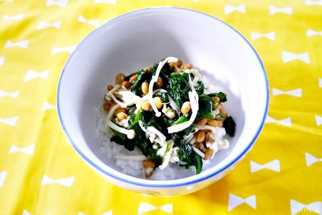 納豆和え粥
