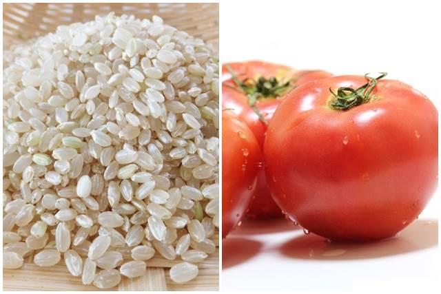 玄米とトマト