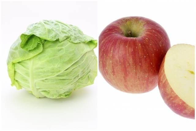 キャベツとリンゴ