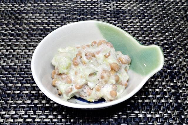 乳酸キャベツの納豆サラダ