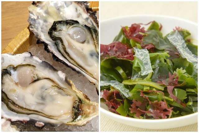牡蠣と海藻