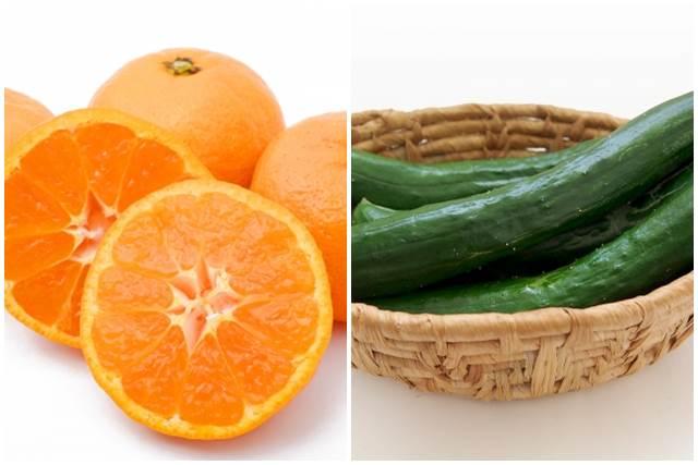 オレンジときゅうり