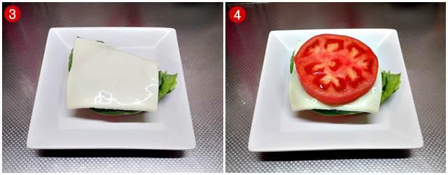 スライスチーズ→トマト