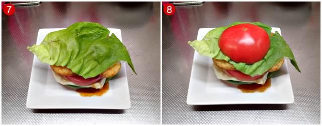 サラダ菜→トマト