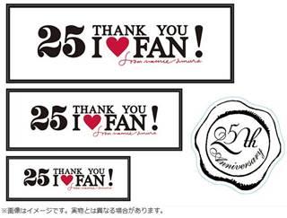 「25 THANK YOU I LOVE FAN」ロゴ・ステッカー