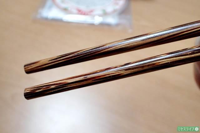 ベトナムの木製箸を持ってみた